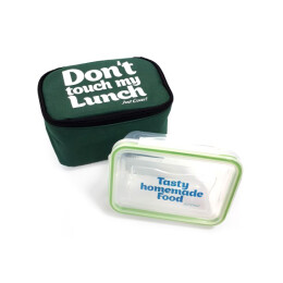 Картинка Термо-сумка для ланча, ланч бэг «Don't touch my lunch», зеленый mini