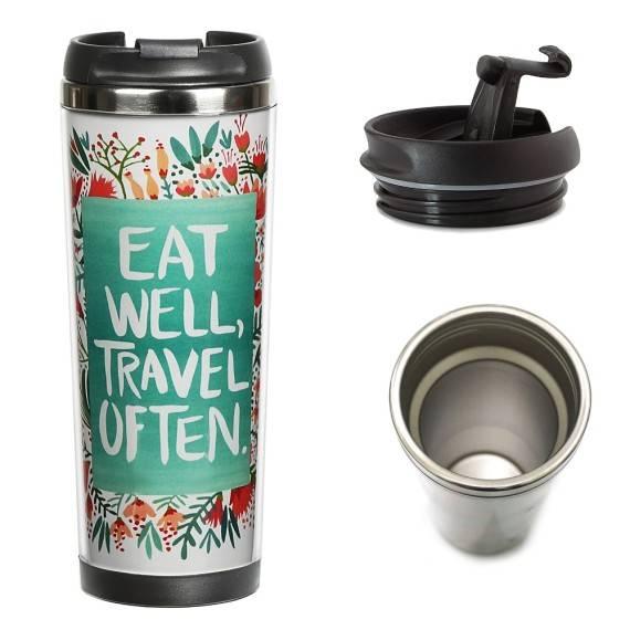 Термокружка «Eat and travel»
